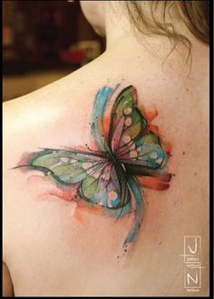 Justin Nordine butterfly tattoo - looks like I'm goin to Colorado!