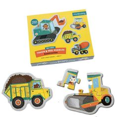 - 20% OFF ALL PUZZLES - Use code WINTERFUN - ends July 17th.  These construction truck puzzles have an extra touch and feel element. The rocks in the dump truck are bumpy the roller is shiny.  A fun puzzle for 2 yrs.  2www.lucaslovescars.com.au
