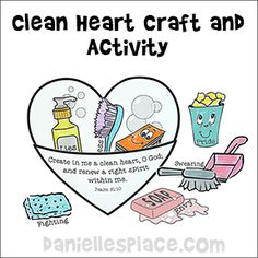 Clean Heart Craft and Activity for Sunday School from www.daniellesplace.com