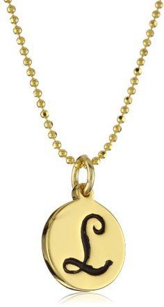 "Erica Anenberg ""Initial L"" Gold Pendant"