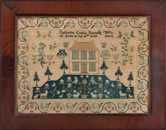 wonderful old sampler 1827 English from M Finkel and Daughter Shop