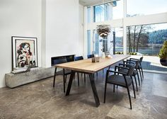 GM 3200 PLANK TABLE - Designer Dining tables from Naver Collection ✓ all information ✓ high-resolution images ✓ CADs ✓ catalogues ✓ contact. Scandinavian Dining Table, Diy Dining Room Table, Round Dining Table, Chaise Noir Design, Plank Table, Furniture Design, Interior Design, House Styles, Home Decor