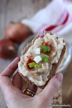 Vegán pecsenyezsír ízű kence (olajmentes) - Nóra mindenmentes konyhája Bistro Food, Izu, Vegan Breakfast, Avocado Toast, Hummus, Yogurt, Sushi, Vegan Recipes, Spices