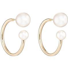 Sophie Bille Brahe Women's Petite Bouclé Kelly Split Hoops ($1,510) ❤ liked on Polyvore featuring jewelry, earrings, no color, hoop earrings, earring jewelry, polish jewelry, 14k hoop earrings and 14k jewelry