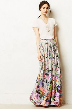 Firefleur Maxi Skirt #anthropologie