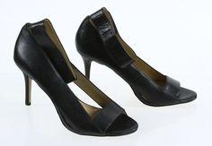 Ann Taylor Black Peep Toe Ankle Strap Coutout Pump High Heels 10M #AnnTaylor #PumpsClassics #SpecialOccasion