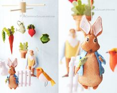 Peter Rabbit Baby Mobile No.1 Story Mobile by by AContinualLullaby