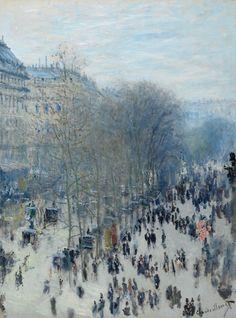 Boulevard des Capucines, 1873-1874, Monet, Nelson Atkins Museum, KC, MO