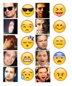 Seb Stan emoticons - I love this!