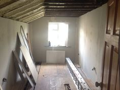 Plasterboard going up in spare room