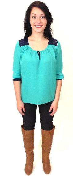 Cute Madison Top from Shine Boutique! www.shoppingshine.com