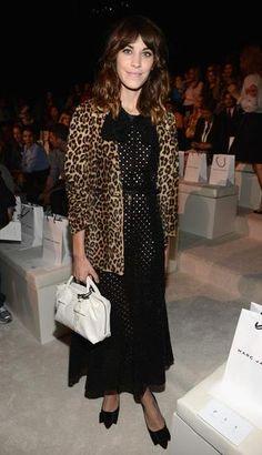 Marc Jacobs black laser cut dress, Marc Jacobs leopard print coat