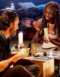 """""""Rick Grimes and Michonne 
