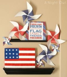 4th of July decor plus free printable