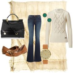Fashion Friday: 21 Outfits for Fall {fashion 2011}---> but without the flare on the jeans