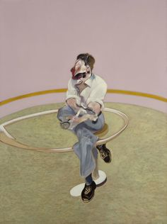 Study for a Portrait of Lucian Freud (sideways), 1971 by Francis Bacon © The Estate of Francis Bacon. All rights reserved, DACS/Artimage 2018. Photo: Prudence Cuming Associates Ltd #schooloflondon #oiloncanvas #painting