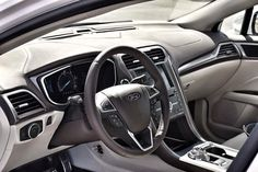 Think electric vehicles aren't luxurious? Think again... Check out the premium leather wrapped dash board in our 2017 Ford Fusion Energi Platinum. #drivingonenergy #PHEV #EV #cars #electricvehicles #luxurycars #interior #leather #iloveevs @drivingonenergi @ford #ad #instawow #igdaily