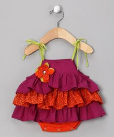 Plum Tiered Romper by Sophie Catalou