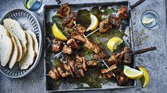 BBC Food - Recipes - Pork souvlaki with oregano