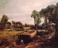Boat Building, by John Constable