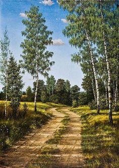 Watercolor Landscape, Landscape Art, Landscape Paintings, Beautiful World, Beautiful Gardens, Beautiful Places, Scenery Pictures, Nature Pictures, Foto Art