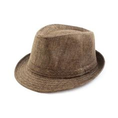 Faddism HAT58BN08 Stylish Brown Flax Design Fedora Hat for Men and Women