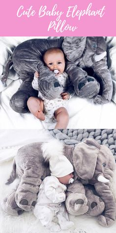 Giant Elephant Baby Pillow. Makes the Perfect Baby Shower Gift!