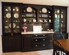 Dining Room Black Cabinets Design, Pictures, Remodel, Decor And Ideas    Page 2