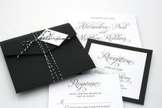 DEPOSIT Chevron Zig Zag Modern Wedding Invitation Suite by EmmaSoo