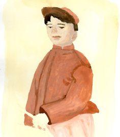 #gouache #sketch #sketchbook #illustration #illustrator #boy #kid #drawing #painting #life #love #tatsurokiuchi #tokyo