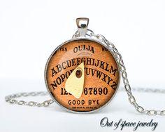 Halloween necklace Halloween pendant Halloween jewelry Cothic Vintage Vintage Ouija Board Pendant Antique Style Spirit World Pendant