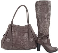 Image detail for -Napoleoni Italian Fashion Croco Boots Purse Set EU 36 Womens Shoes ...