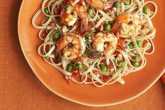 Shrimp and Linguine Bake