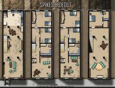 #shadowrun; floorplan; hideout