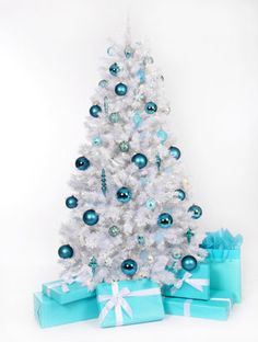 Tiffany blue and white Christmas tree