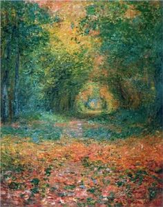 Claude Monet--French Impressionist, A Monet that's new to me, beautiful! The Undergrowth in the Forest of Saint-Germain - Claude Monet - 1882 Claude Monet, Monet Paintings, Landscape Paintings, Art Amour, Pierre Auguste Renoir, Edouard Manet, Inspiration Art, Impressionist Paintings, Oeuvre D'art