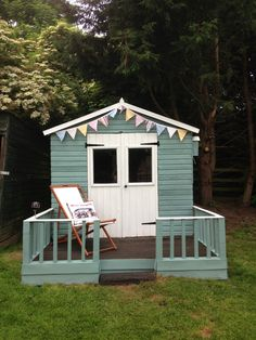 Newly Painted Shed In Cuprinol Garden Shades Seagrass And