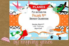 Disney Planes Birthday Party Invitations(Group) on Etsy, $9.00