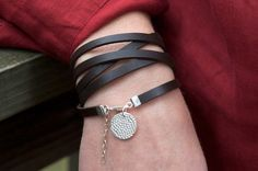 Leather bracelet (glam it up with rhinestones or studs)