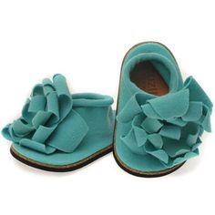 Joli Petal Baby Shoe in Aqua ... Zuzii on Etsy ...  $26.50