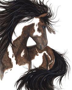 'Majestic Dream Pinto Horse' | Art of AmyLyn Bihrle | http://fineartamerica.com/