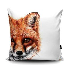Olivia Hicks - Fox Cushion - Fox Art - Wildlife Art