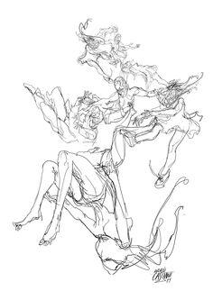 """""""Dinamismo"""" ilustración de Andrés Casciani para un poema de Daniel Camps, Revista Zero - digital, 2014/ http://andrescasciani.com/"""
