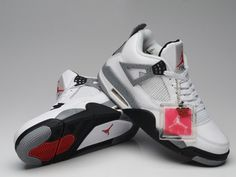 finest selection bbecf 773f3 Air Jordan IV 4 Retro White Cement Black,Price  48