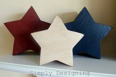 4th of July Decor Use paper mache boxes or wood.