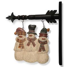 Three Snowmen Hanging Sign