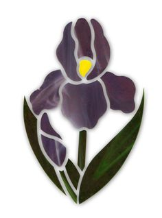Purple Iris Flower Premium Pre-Cut Kit
