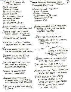 Robert's Class Notes-DO NOT POST HERE! - WetCanvas