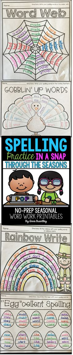 Need to spice up your word work stations and/or spelling practice during the holidays? This packet includes seasonal themed spelling activities that are sure to keep your students engaged and having fun while working with words! 1st Grade Spelling, Spelling Practice, Spelling Words, Spelling Ideas, Spelling Centers, Writing Centers, Spelling Patterns, Teaching Language Arts, Teaching Writing