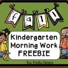 FREE! THESE WILL BE GREAT TO ADD TO YOUR MORNING ROUTINE!! Aligned to Kindergarten Common Core Standards *I will be adding Morning Work for every month.....